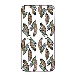 Feather Pattern Apple Iphone 4/4s Seamless Case (black) by Valentinaart