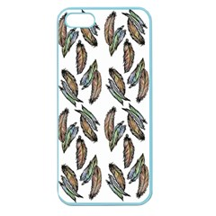 Feather Pattern Apple Seamless Iphone 5 Case (color) by Valentinaart