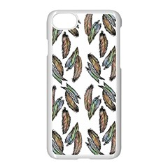 Feather Pattern Apple Iphone 7 Seamless Case (white) by Valentinaart