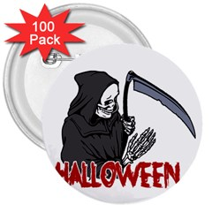 Death   Halloween 3  Buttons (100 Pack)  by Valentinaart