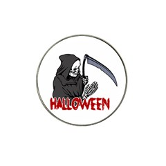 Death   Halloween Hat Clip Ball Marker (4 Pack) by Valentinaart