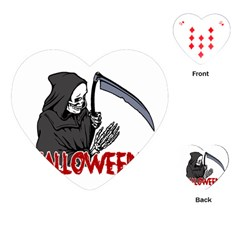 Death   Halloween Playing Cards (heart)  by Valentinaart