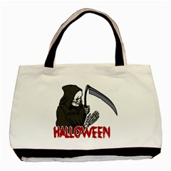 Death   Halloween Basic Tote Bag by Valentinaart