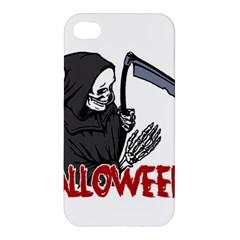 Death   Halloween Apple Iphone 4/4s Premium Hardshell Case by Valentinaart