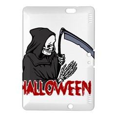 Death   Halloween Kindle Fire Hdx 8 9  Hardshell Case by Valentinaart