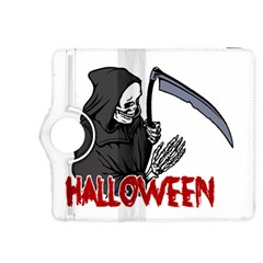 Death   Halloween Kindle Fire Hdx 8 9  Flip 360 Case by Valentinaart