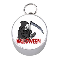 Death   Halloween Mini Silver Compasses by Valentinaart
