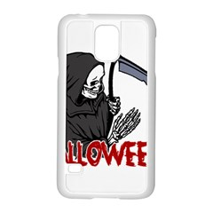 Death   Halloween Samsung Galaxy S5 Case (white) by Valentinaart