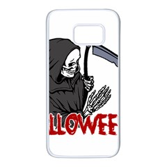 Death   Halloween Samsung Galaxy S7 White Seamless Case by Valentinaart
