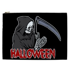 Death   Halloween Cosmetic Bag (xxl)  by Valentinaart