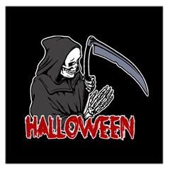 Death   Halloween Large Satin Scarf (square) by Valentinaart
