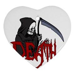 Death   Halloween Ornament (heart) by Valentinaart