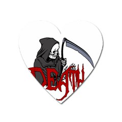 Death   Halloween Heart Magnet by Valentinaart