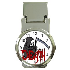 Death   Halloween Money Clip Watches by Valentinaart