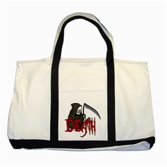 Death   Halloween Two Tone Tote Bag