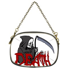Death   Halloween Chain Purses (one Side)  by Valentinaart