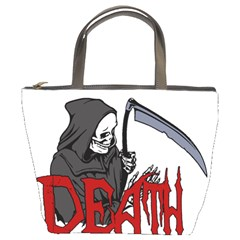 Death   Halloween Bucket Bags by Valentinaart