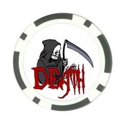 Death   Halloween Poker Chip Card Guard (10 Pack) by Valentinaart
