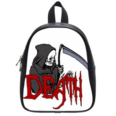 Death   Halloween School Bag (small) by Valentinaart