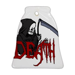 Death   Halloween Bell Ornament (two Sides) by Valentinaart