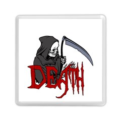 Death   Halloween Memory Card Reader (square)  by Valentinaart