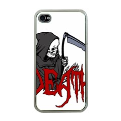 Death   Halloween Apple Iphone 4 Case (clear) by Valentinaart