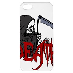 Death   Halloween Apple Iphone 5 Hardshell Case by Valentinaart