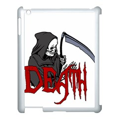Death   Halloween Apple Ipad 3/4 Case (white) by Valentinaart