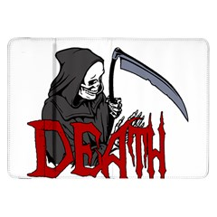 Death   Halloween Samsung Galaxy Tab 8 9  P7300 Flip Case by Valentinaart