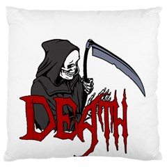 Death   Halloween Large Flano Cushion Case (two Sides) by Valentinaart