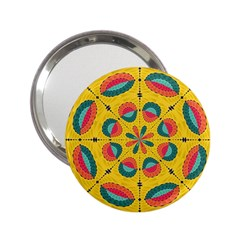 Textured Tropical Mandala 2 25  Handbag Mirrors by linceazul
