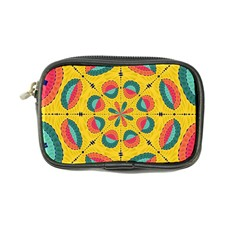 Textured Tropical Mandala Coin Purse by linceazul