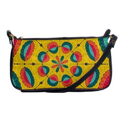 Textured Tropical Mandala Shoulder Clutch Bags by linceazul