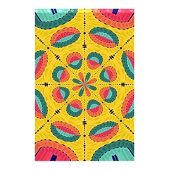Textured Tropical Mandala Shower Curtain 48  X 72  (small)  by linceazul