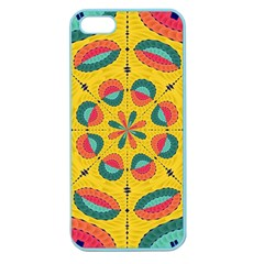 Textured Tropical Mandala Apple Seamless Iphone 5 Case (color) by linceazul
