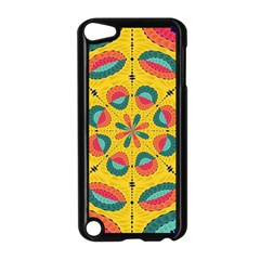 Textured Tropical Mandala Apple Ipod Touch 5 Case (black) by linceazul