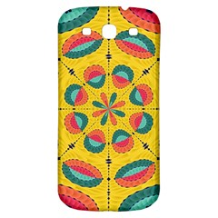 Textured Tropical Mandala Samsung Galaxy S3 S Iii Classic Hardshell Back Case by linceazul