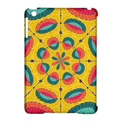 Textured Tropical Mandala Apple Ipad Mini Hardshell Case (compatible With Smart Cover) by linceazul