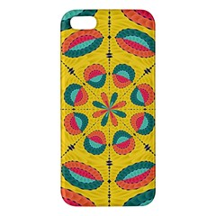 Textured Tropical Mandala Apple Iphone 5 Premium Hardshell Case by linceazul
