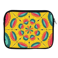 Textured Tropical Mandala Apple Ipad 2/3/4 Zipper Cases by linceazul