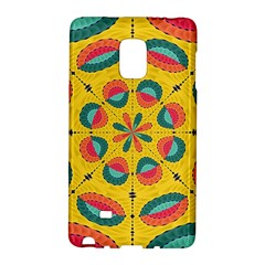 Textured Tropical Mandala Galaxy Note Edge by linceazul