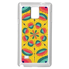 Textured Tropical Mandala Samsung Galaxy Note 4 Case (white) by linceazul