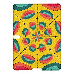 Textured Tropical Mandala Samsung Galaxy Tab S (10 5 ) Hardshell Case  by linceazul