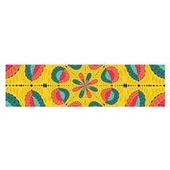Textured Tropical Mandala Satin Scarf (oblong) by linceazul