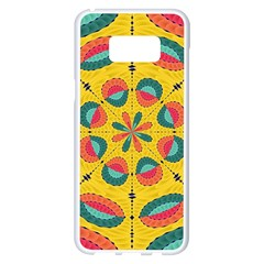 Textured Tropical Mandala Samsung Galaxy S8 Plus White Seamless Case by linceazul