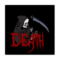Death   Halloween Tile Coasters by Valentinaart