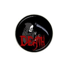 Death   Halloween Hat Clip Ball Marker by Valentinaart