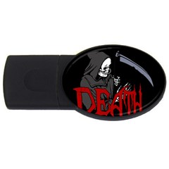 Death   Halloween Usb Flash Drive Oval (4 Gb) by Valentinaart