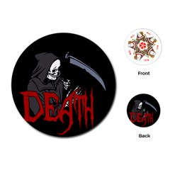 Death   Halloween Playing Cards (round)  by Valentinaart