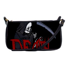 Death   Halloween Shoulder Clutch Bags by Valentinaart